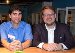 Noch Stadtjugendpfleger Marc Olszewski (li.) und SJR-Vorsitzender Achim Biesenbach