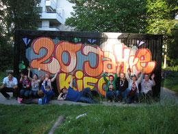 Das Betreuer-Team des Stadtjugendrings bei der 20-Jahr-Feier des Kinderforums