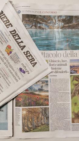 l'articolo del Corriere della Sera sul concorso Obiettivo Terra - Francesco Ferruzzi