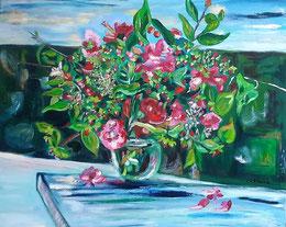 Le bouquet de la Poste, peinture à l'huile, Claire ALLARD, bouquet