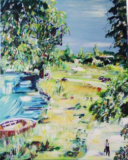 Un dimanche à la campagne, Claire ALLARD, peinture à l'huile