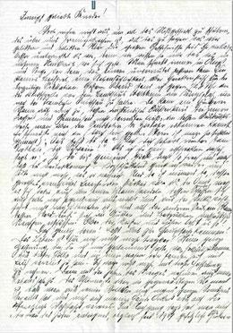 Seite 1 des Abschiedsbriefes