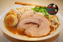 Ramen Rezept Schweineknochen Brühe Tonkotsu mit Chasu Einlage