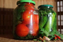 Russische Malosol Tomaten Eingelegte Leicht gesalzene Eingemachtes