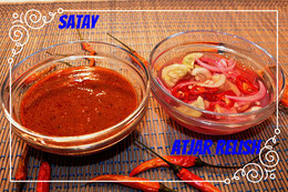 Indonesische sauce satay sate rezept thai relish atjar sauer