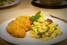 Kartoffelsalat Essig Öl zubereitung Rezept