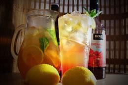 Zitronen Eis Tee Ice Tea Lemon Grüner Rezept