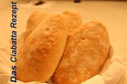 Frisches Brot Italien Rezept zubereiten