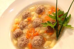 Russische hackfleisch bällchen Suppe Rezept Frikadellen Eintopf