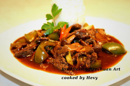 Chinesisches Rindfleisch Szechuan Art Sichuan Rezept