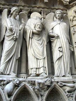 Saint Denis, Portail de la Vierge, Notre Dame de Paris