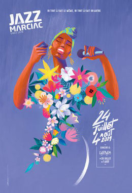 Camping gers arros - Affiche Jazz In Marciac 2021