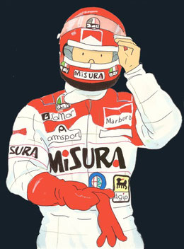 Bruno Giacomelli by Muneta & Cerracín