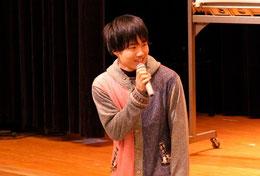 久保田 暢(とおる)くん。一緒に講演の運営をしました。当時は高校2年生