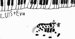 """Eva Sindichakis gewidmet Schülerbild das """"Tastenzebra"""""""