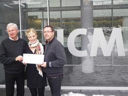 Alain Marin, Pierre Pujolas et Aguathe Gioli responsable communication de l'ICM