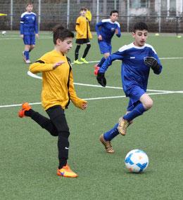 TuS D2-Jugend gegen FC Saloniki-EFV 2. - Fotos: p.d.