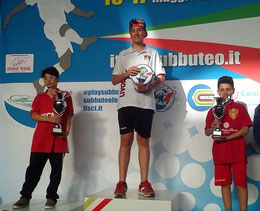 Il podio Under 12 con Riccardo Natoli medaglia di bronzo