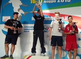 Il podio Under 15 con Claudio La Torre semifinalista