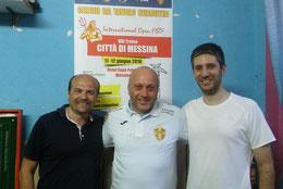 Al centro Max Berselli con Natoli e Giliberto
