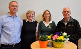 v.l.n.r.: Martin Sieffert, Barbara Krug, Margaret Hallay, Karl-Heinz Sülzenfuß