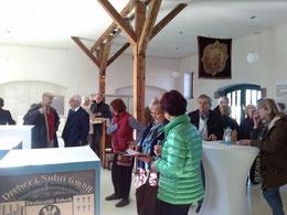 """Großer Andrang bei der Eröffnung der Ausstellung """"Kirchturm und Schlot"""". (Foto: A. Fröhling)"""