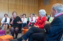 Fishbowl während des FU Bundesdelegiertentages mit FU KV Vorsitzender Maria Michalk