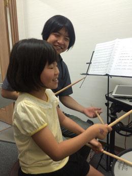 高槻シード音楽教室 ドラム教室レッスン風景
