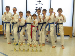 von links: Ole, Lina, Antoni, Lukas, Milan, Daniel, Tom, Max, Cedrik