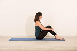 Position de départ du roll down jambes fléchies