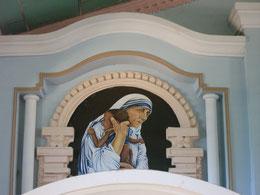 Motiv in der Kirche des Ashrams für Waisenkinder in Anwathi