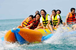 So much fun with banana boat ride in Lovina