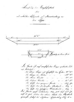 Konstruktionsskizze der Fährponte