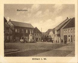 Der Markt um 1925 - alte Ansichtskarte