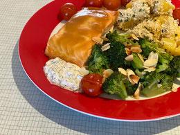 Honig-Senf-Lachsfilet aus dem Ofen – das Ergebnis