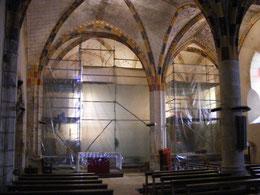 La restauration des peintures du choeur en 2013