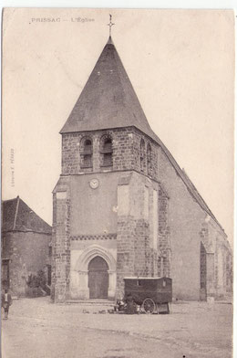L'église vers 1900, carte postale ancienne