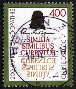 Bild: Briefmarke Samuel Hahnemann, Homöopathie