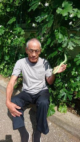 栽培に協力してくれた田中さん