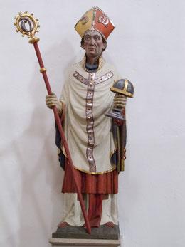Godehard als Bischof von Hildesheim mit Stab und Hildesheimer Marienreliquiar