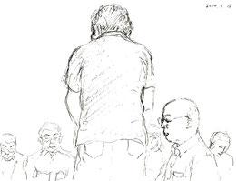 原告証人・小山さんへ主尋問を行う原告側・大橋弁護士