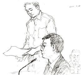 九電証人・小鶴氏へ主尋問を行う被告側・熊谷弁護士