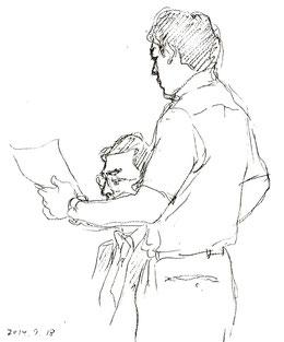 小鶴氏を堂々と反対尋問する原告側・谷弁護士