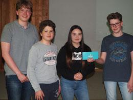 """Sonderpreis für besondere Kreativität: Till, Philipp, Lia, Ben sind die """"Happy Tomatoes"""""""