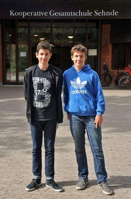 Mit den Schülersprechern Massi Husen und Taylor Hoare wurde eine neue Doppelspitze gewählt.