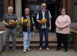 Sie treten in den Ruhestand: Stefan Ruppel, Sabine Lepke, Ralph Gensigora (v. l.). Foto: ROM