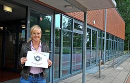 Die stellvertretende KGS-Leiterin Christina Petersen musste den Betrieb in der Mensa wegen der Pandemie umorganisieren lassen. Foto: Patricia Oswald-Kipper