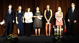 Ausgezeichnet wurden Lena Ascher, Aicha-Christin Blank, Nele Bartel, Marvin Müller, Wiktoria Zalesna, Moritz Hauck und Isabell Tasche – Foto: JPH