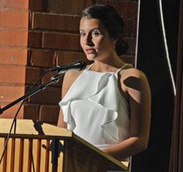 Viel Applaus bekam die Jahrgangssprecherin Maite Fricke am Ende ihrer Rede – Foto: JPH