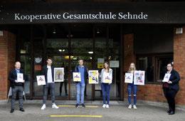 Kunstwettbewerb Preisträger KGS-Sehnde 2020; Herr Bohns, Frau Heidrich